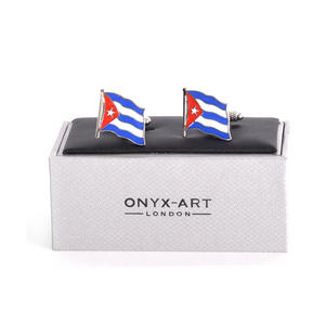 Cufflinks - Cuba Flag - Cuban Flying Flag Thumbnail 2