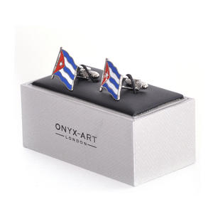 Cufflinks - Cuba Flag - Cuban Flying Flag Thumbnail 3