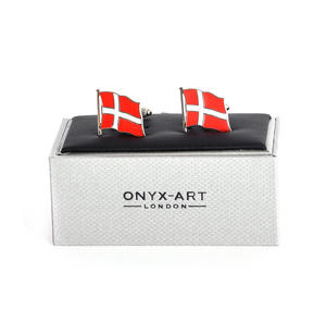 Cufflinks - Denmark Flag - Danish Flying Flag Thumbnail 1