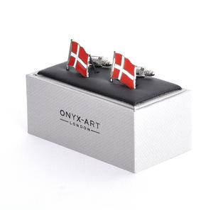 Cufflinks - Denmark Flag - Danish Flying Flag Thumbnail 2