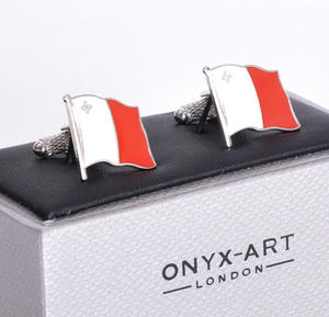 Cufflinks - Malta Flag - Maltese Flying Flag Thumbnail 3