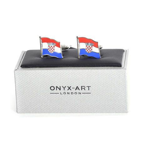 Cufflinks - Croatia Flag - Croatian Flying Flag