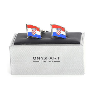 Cufflinks - Croatia Flag - Croatian Flying Flag Thumbnail 1