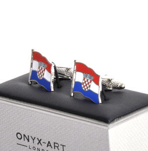 Cufflinks - Croatia Flag - Croatian Flying Flag Thumbnail 2