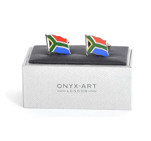 Cufflinks - South Africa Flag - South African Flying Flag Thumbnail 1