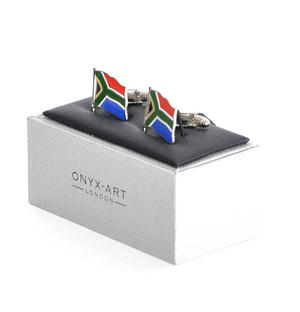 Cufflinks - South Africa Flag - South African Flying Flag Thumbnail 2