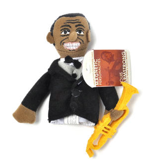 Louis Armstrong Finger Puppet & Fridge Magnet Thumbnail 1