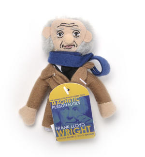 Frank Lloyd Wright Finger Puppet & Fridge Magnet Thumbnail 1