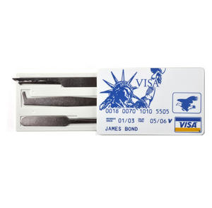 James Bond Credit Card Skeleton Key Secret Lock Pick Set Thumbnail 1