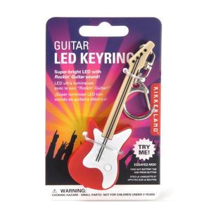 Electric Guitar LED Key Ring - Random Red or Black Colours Thumbnail 1