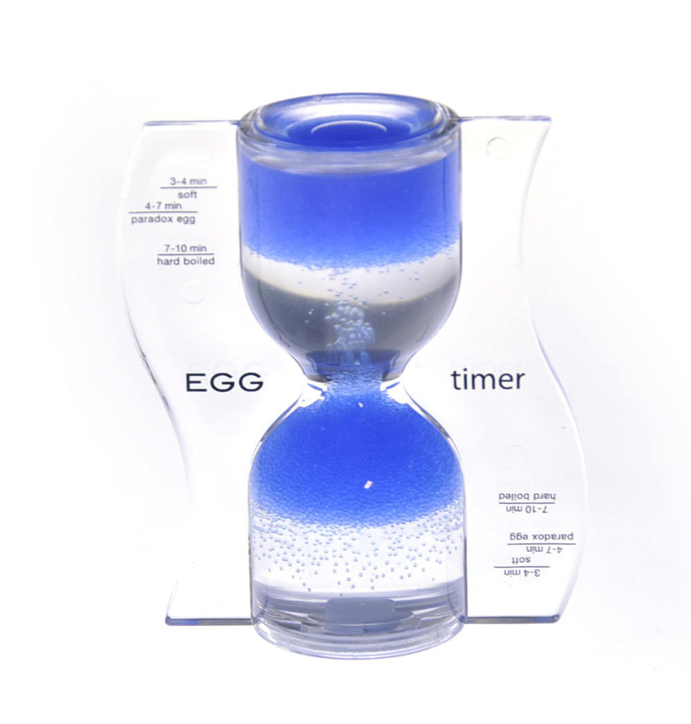Paradox Blue Egg Timer - Watch the Purple Bubbles Defy Gravity