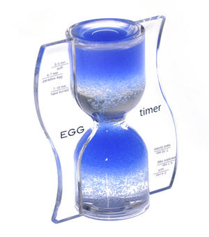 Paradox Blue Egg Timer - Watch the Purple Bubbles Defy Gravity Thumbnail 1
