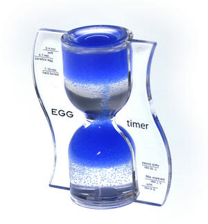 Paradox Blue Egg Timer - Watch the Purple Bubbles Defy Gravity Thumbnail 2