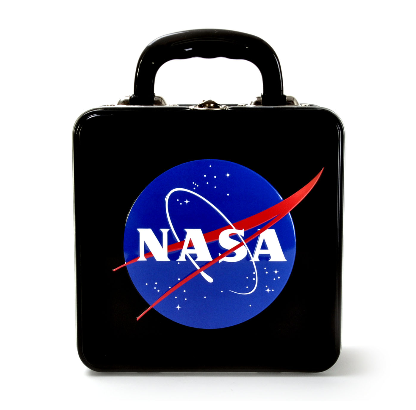 NASA Logo Embossed Tin Lunch Box