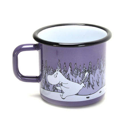 Moomin & Groke - Purple Moomin Muurla Enamel Mug - 3.7 cl