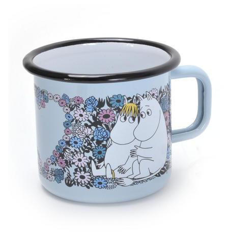 Moomin Sweetheart- Blue Moomin Muurla Enamel Mug - 37 cl