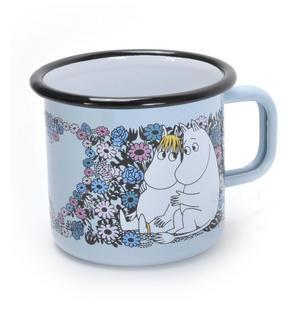 Moomin Sweetheart- Blue Moomin Muurla Enamel Mug - 37 cl Thumbnail 1