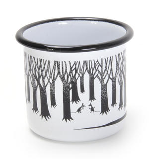 Groke - Black & White Moomin Muurla Enamel Mug - 37 cl Thumbnail 2