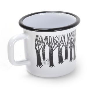 Groke - Black & White Moomin Muurla Enamel Mug - 37 cl Thumbnail 3