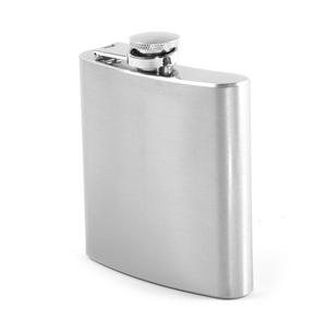 6oz Classic Hip Flask with Sand Mirror Finish Thumbnail 2