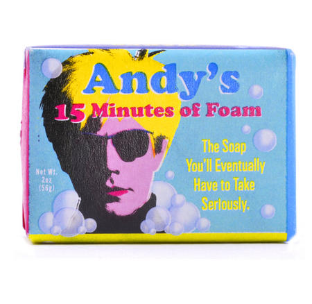 Andy Warhol Soap - Andy's 15 Minutes of Foam