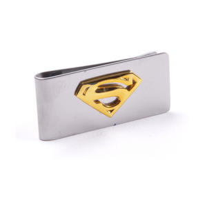 Gold Superman Logo Money Clip - Superman Returns in Wooden Box Thumbnail 2