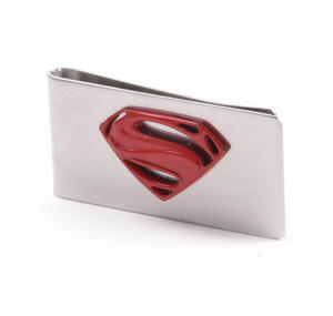 Red Superman Logo Money Clip - Boxed Superman Man of Steel Thumbnail 1