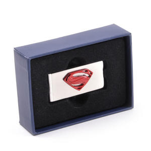 Red Superman Logo Money Clip - Boxed Superman Man of Steel Thumbnail 5