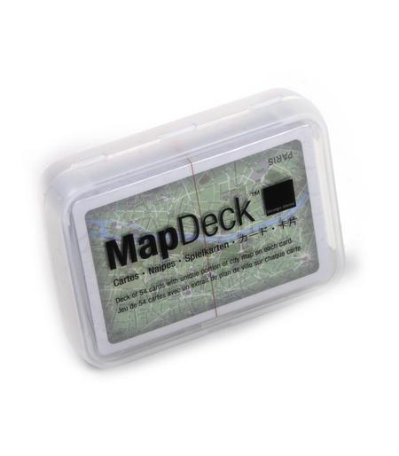 Paris Map - Map Deck Playing Card Set