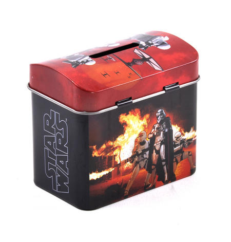 Star Wars Darth Vader & Stormtroopers Money Savings Tin with Lock and Key