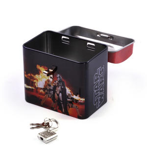 Star Wars Darth Vader & Stormtroopers Money Savings Tin with Lock and Key Thumbnail 2