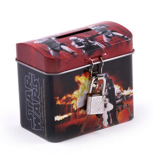 Star Wars Darth Vader & Stormtroopers Money Savings Tin with Lock and Key Thumbnail 4