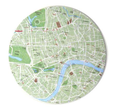 London Map - Map Coasters