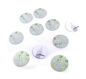 London Map - Map Coasters Thumbnail 4