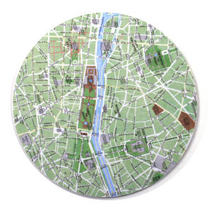 Paris Map - Map Coasters