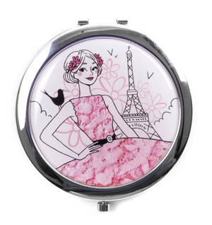 Parisienne! La Romantique - Compact Mirror / Miroir de poche Thumbnail 1