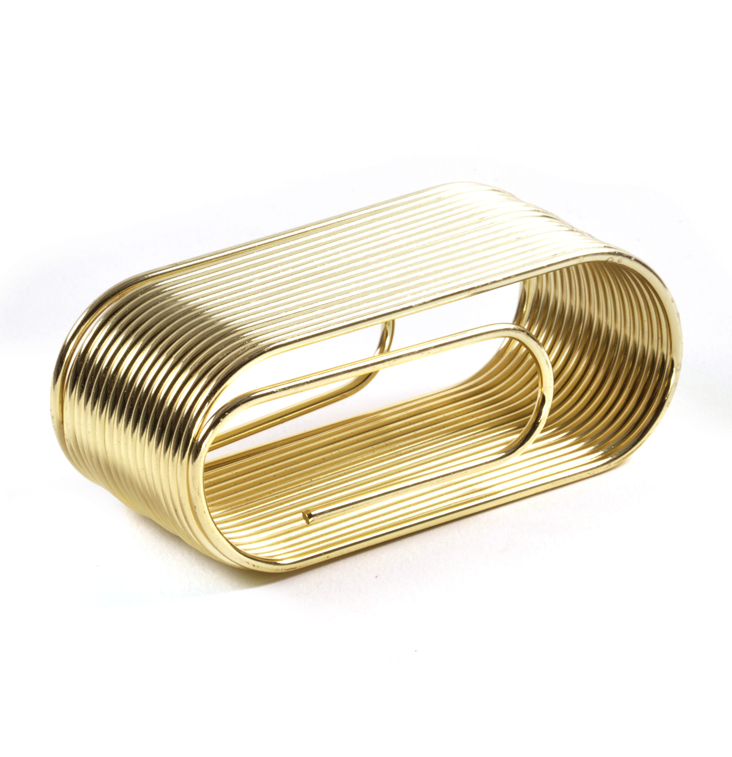 Details about Giant Brass Paper Clip Paper & Note Holder - Clip Note  Organiser