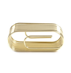 Giant Brass Paper Clip Paper & Note Holder - Clip Note Organiser Thumbnail 4