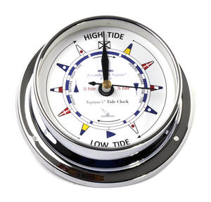 Classic Chromed Flag Dial  Tide Clock 115mm - Neptune's Tide Clock TC 1000 C -CH Thumbnail 2