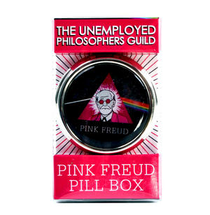 Pink Freud Circular Pill Box - Sigmund Freud / Pink Floyd Mash Up Thumbnail 2