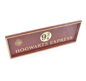 Harry Potter Replica Hogwarts Express Kings Cross Platform 9 3/4 Sign Thumbnail 3
