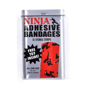 Ninja Adhesive Bandages- First Aid In A Tin - Plasters / Band Aids Thumbnail 1