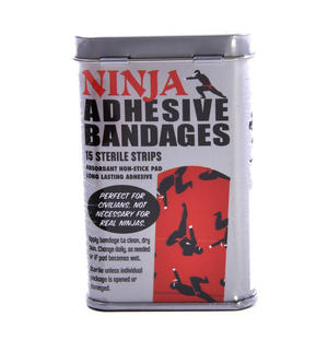 Ninja Adhesive Bandages- First Aid In A Tin - Plasters / Band Aids Thumbnail 2