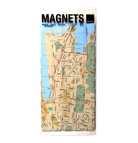 Sydney City Map Fridge Magnet Puzzle - Learn the City Map Knowledge with Fridge Magnets