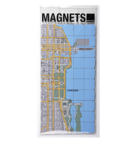 Chicago City Map Fridge Magnet Puzzle - Learn the City Map Knowledge with Fridge Magnets