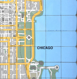Chicago City Map Fridge Magnet Puzzle - Learn the City Map Knowledge with Fridge Magnets Thumbnail 2