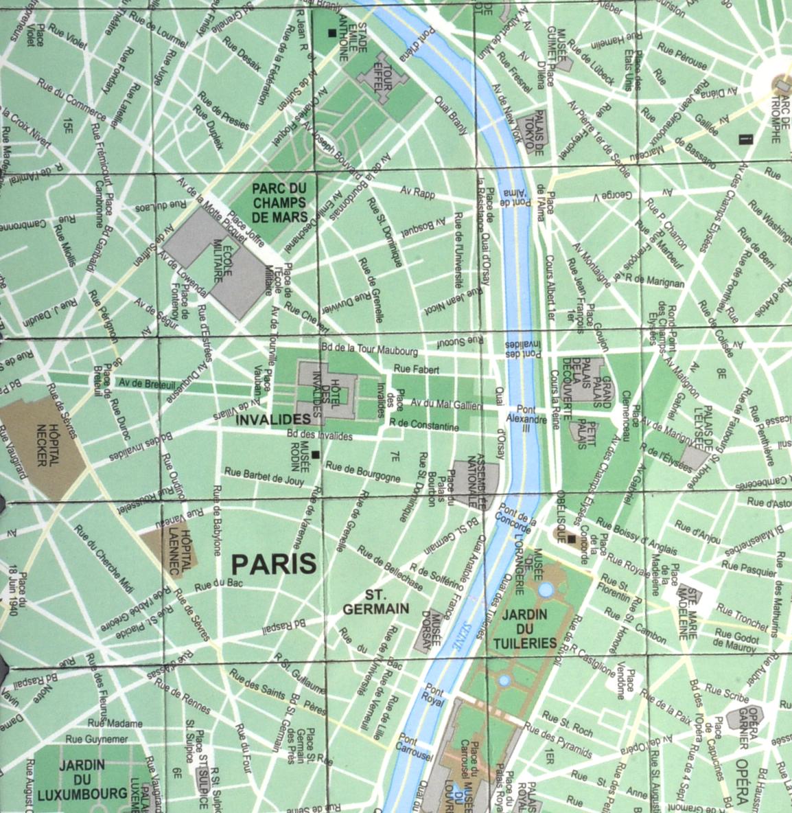 Paris City Map Fridge Magnet Puzzle - Learn the City Map Knowledge with  Fridge Magnets