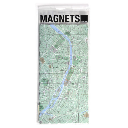Paris City Map Fridge Magnet Puzzle - Learn the City Map Knowledge with Fridge Magnets