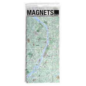 Paris City Map Fridge Magnet Puzzle - Learn the City Map Knowledge with Fridge Magnets Thumbnail 1
