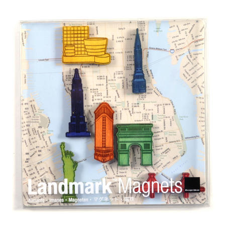 New York Landmark Fridge Magnets - Landmarks of the fabulous city